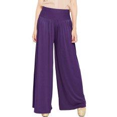 JO & NIC Celana Wanita Kulot Allsize Pleated Long Culotte Pants - Fit to Big Size - Purple