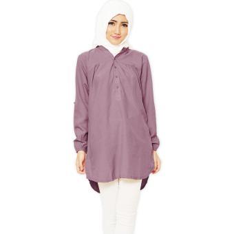 Harga JO NIC Kemeja Tunik Lengan Panjang 3 size M L XL Lavender Terbaru klik gambar.