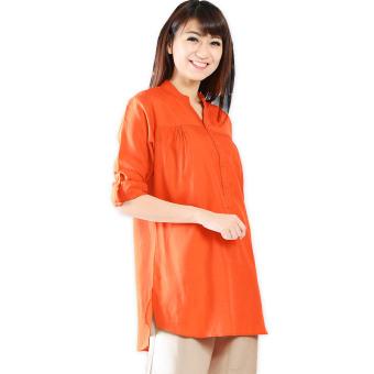 JO & NIC Kemeja Tunik Lengan Panjang 3 size M L XL Orange .