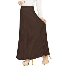 JO & NIC Pleated Long Skirts - Rok Panjang Lipit Fit to XL - Choco