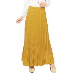 JO & NIC Pleated Long Skirts - Rok Panjang Lipit Fit to XL - Yellow