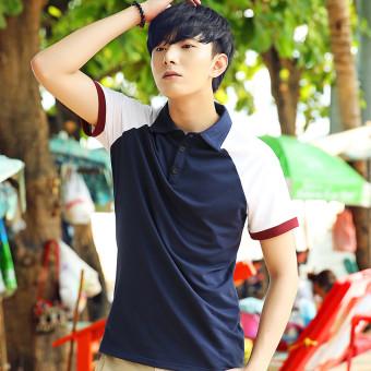 Bandingkan Simpan John atas nama versi Korea Slim lengan pendek kemeja POLO t-shirt (