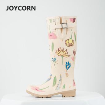 Sepatu Boots Hujan Eropa dan Amerika Serikat Wanita Sepatu Boots Hujan Modis Perempuan