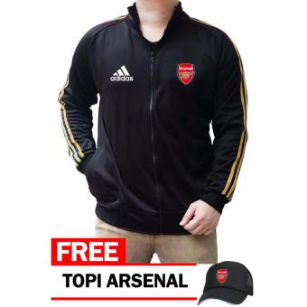 harga Just Cloth Jaket Jersey The Gunners Arsenal + Free Topi Arsenal - Hitam Lazada.co.id