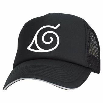 Just Cloth Topi Trucker Anime Naruto Konoha Logo - Hitam