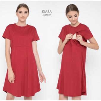 Just Mom Dress hamil menyusui Kiara Maroon KR114