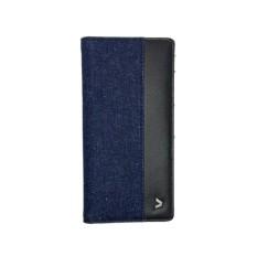 Kalibre 995123-400 Dompet Panjang Denim Kulit Kombinasi Pria Biru Blue Jeans Long Wallet