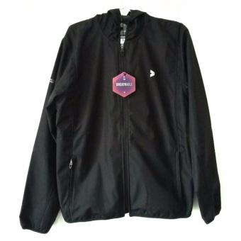 Kalibre Vertex 1.2 Jaket Hoodie Outdoor Gunung Anti Air WaterproofWater Resistant Hitam Black Windbreaker Jacket Outerwear