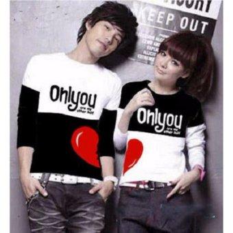 Kaos Couple Lengan Panjang Baju Couple Kaos Kapel Baju Kembar