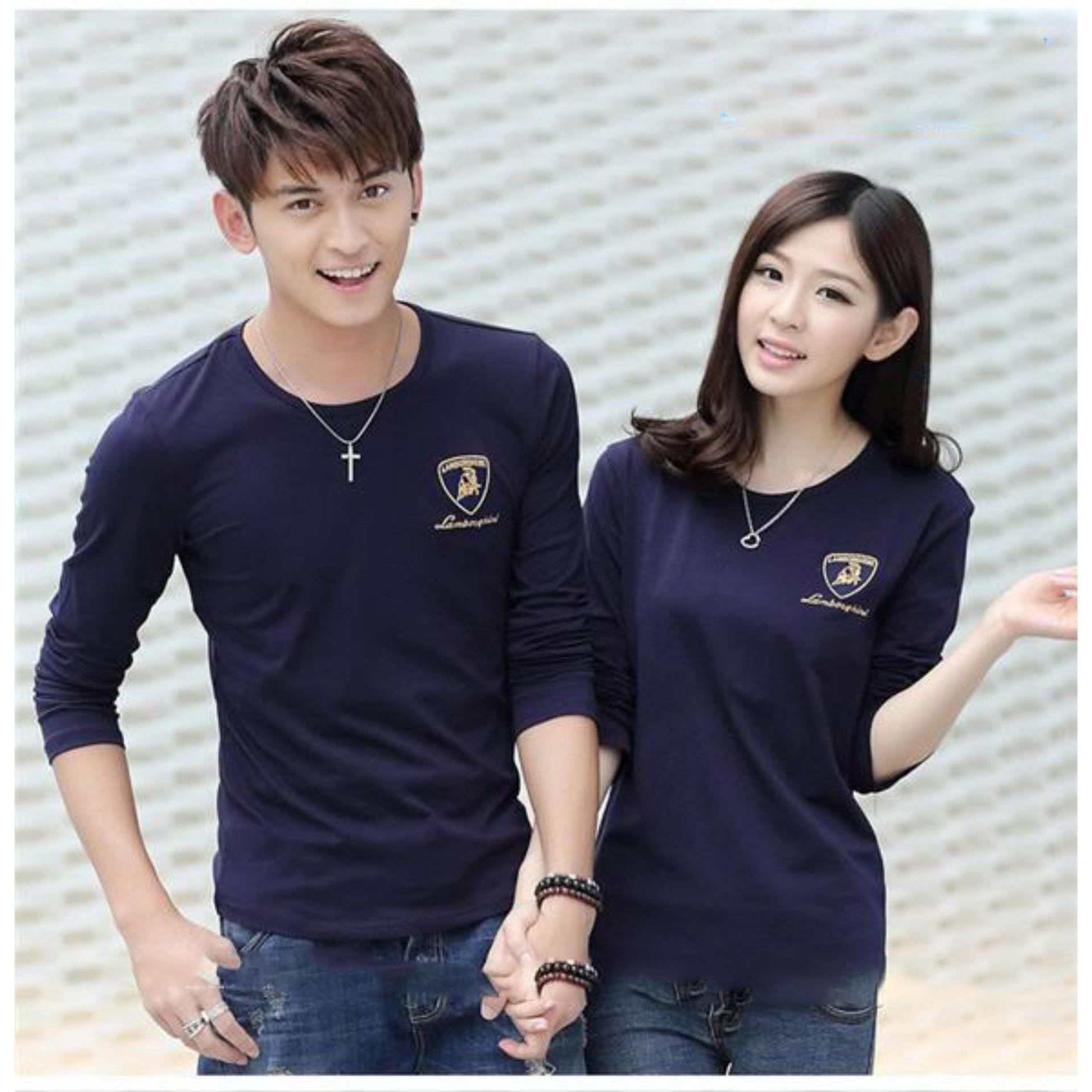 Flash Sale Kaos Couple Lengan Panjang | Baju Pasangan | Kaos Kapel | Baju Kembar (