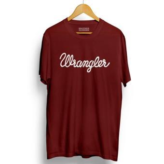 Jual Kaos Distro WRANGLER T Shirt Maroon Online Terbaik - tokocreep dda52aa89d