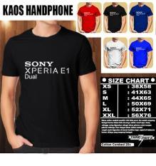 Kaos Gadget HP Distro Baju T-Shirt Handphone SONY Xperia E1 Dual Logo Font