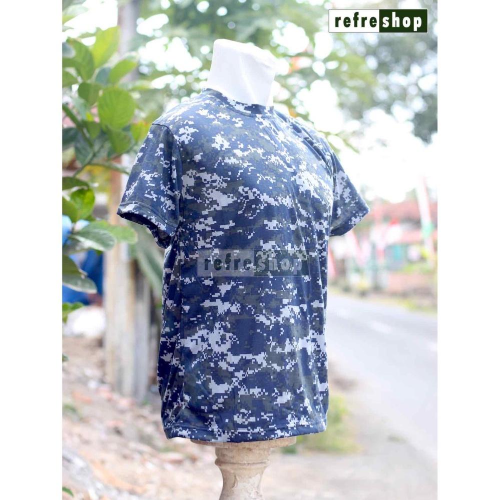 Kaos Loreng TNI Biru KLBS1 Militer Army .