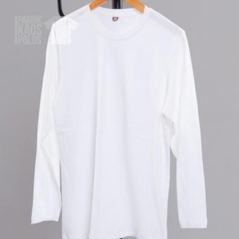 Tokotujus Harga Kaos Polos Hijab Lengan Panjang White Pjg 30s Online Murah