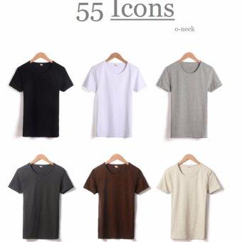 Kaos55 Kaos T-Shirt O-Neck Lengan Pendek - Biru Dongker - 4