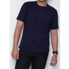 Kaos86 Kaos Polos T-Shirt O-Neck Lengan Pendek - Biru Dongker