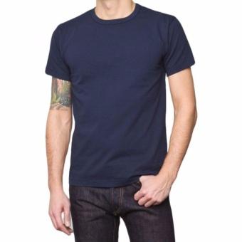 Gambar KaosBRO Kaos Polos T Shirt O Neck Lengan Pendek Biru Dongker