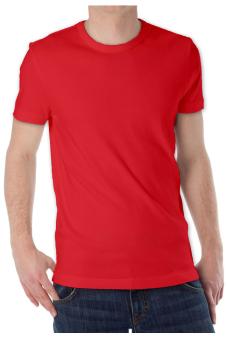 Detail Gambar KaosYES Kaos T-Shirt O-Neck Lengan Pendek - Merah dan Variasi Modelnya