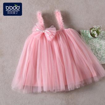 Pelacakan Harga Kasa gadis kecil berpakaian gadis gaun gadis gaun Baobao putri rok (Merah muda