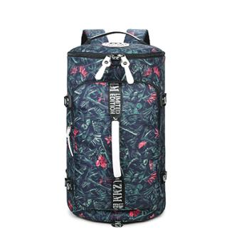 Kasual kanvas wanita perjalanan ringan tas bahu perjalanan tas ransel (Bambu bunga terompet)