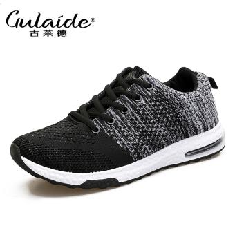 Beli Kasual musim gugur baru jala sepatu pria sepatu running (1701-2 hitam) Online