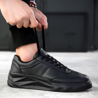 Kasual musim semi baru sepatu pasang sepatu pria sepatu (Hitam)