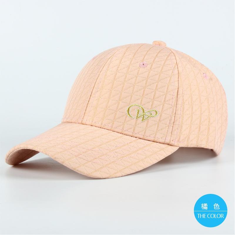 Flash Sale Kasual perempuan bisbol topi musim panas topi musim panas topi (Oranye (berlian