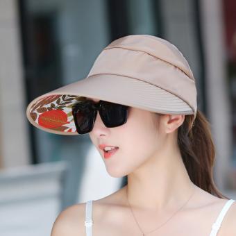 Topi Pantai Gaya Korea Wanita Topi Sulap Perlindungan UV Pelindung Terik  Matahari. Source · Kasual perempuan musim panas UV matahari topi topi  (Versi ringan ... 2199030b5d