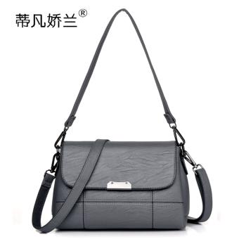 Kasual tas wanita selempang tas wanita (Abu-abu gelap (Hadiah panjang dan pendek