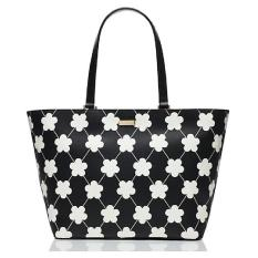 Kate Spade Jules Grant Street Black White Floral (Extra Large)