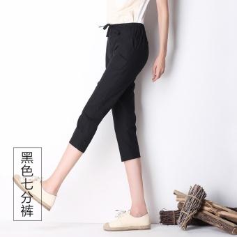 Cari Bandingkan Katun warna bagian tipis mulut celana celana (Hitam (tujuh)) Harga
