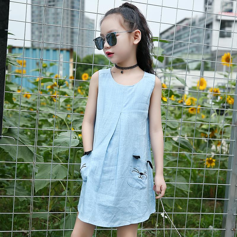 Anak besar perempuan baru Gadis sifon gaun (Hitam). Source · Flash Sale Katun