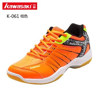 Kawasaki bernapas ringan untuk pria dan wanita memakai sepatu sneaker sepatu bulutangkis profesional (K-061 oranye)
