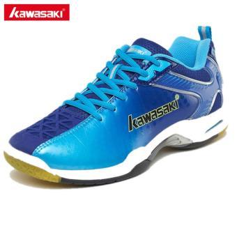 Beli Kawasaki K-506 Sneakers Professional Badminton Shoes for Women Men Sports Shoes Anti-Slippery Breathable (Blue) Online