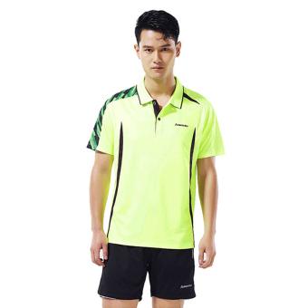 Jual Kawasaki pria dan beberapa wanita lengan pendek kerah stand-up t-shirt I pakaian (ST-16152 laki-laki t-shirt neon kuning) Murah