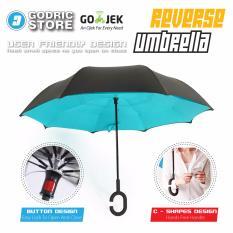 Kazbrella Payung Terbalik / Reverse Umbrella Gagang C - Biru Muda