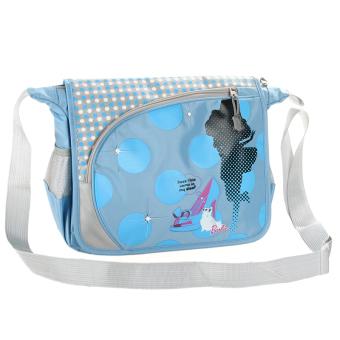 Kebugaran Korea Fashion Style bahu tas sekolah tas selempang (1002 biru)