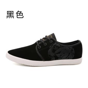Harga Kebugaran Korea Fashion Style baru mahasiswa renda untuk membantu sepatu rendah sepatu pria (Hitam) Murah