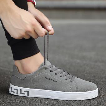 Harga Kebugaran Korea Fashion Style musim gugur baru laki-laki sepatu (Abu-abu) Ori