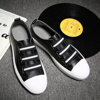 Jual Kebugaran Korea Fashion Style putih laki-laki untuk membantu rendah sepatu sepatu (Hitam) Online