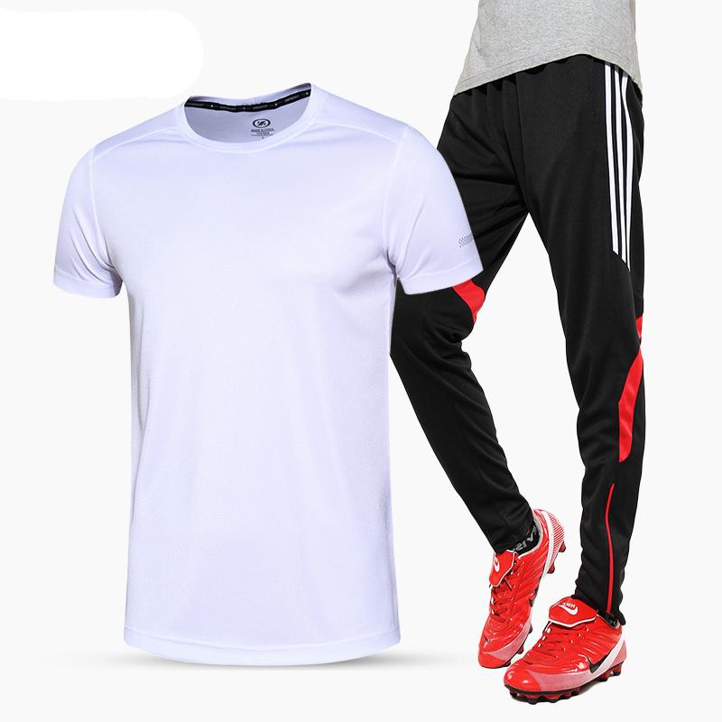Kebugaran laki-laki musim semi dan musim gugur berjalan kebugaran pakaian (6301 kemeja putih