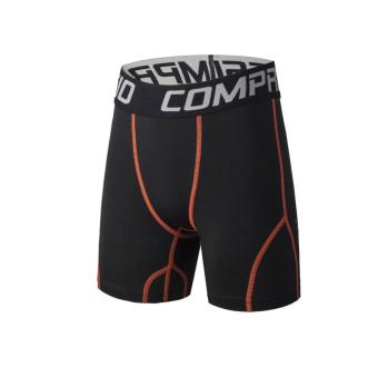 Jual Kebugaran Lengan Pendek Legging Pria Dan Anak Anak Basket Pelatihan Pakaian T052 Orange Hitam Celana Pendek T052 Orange Hitam Celana Pendek Murah Shereeoptamsen