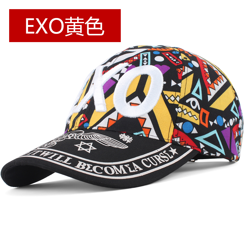 Kebugaran wanita Musim Semi dan Musim Gugur Hari Korea Fashion Style bisbol  topi topi (EXO c1c5f09a7c