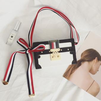 Kecil persegi Korea tas mini kecil kotak tas tas retro tas (Putih)