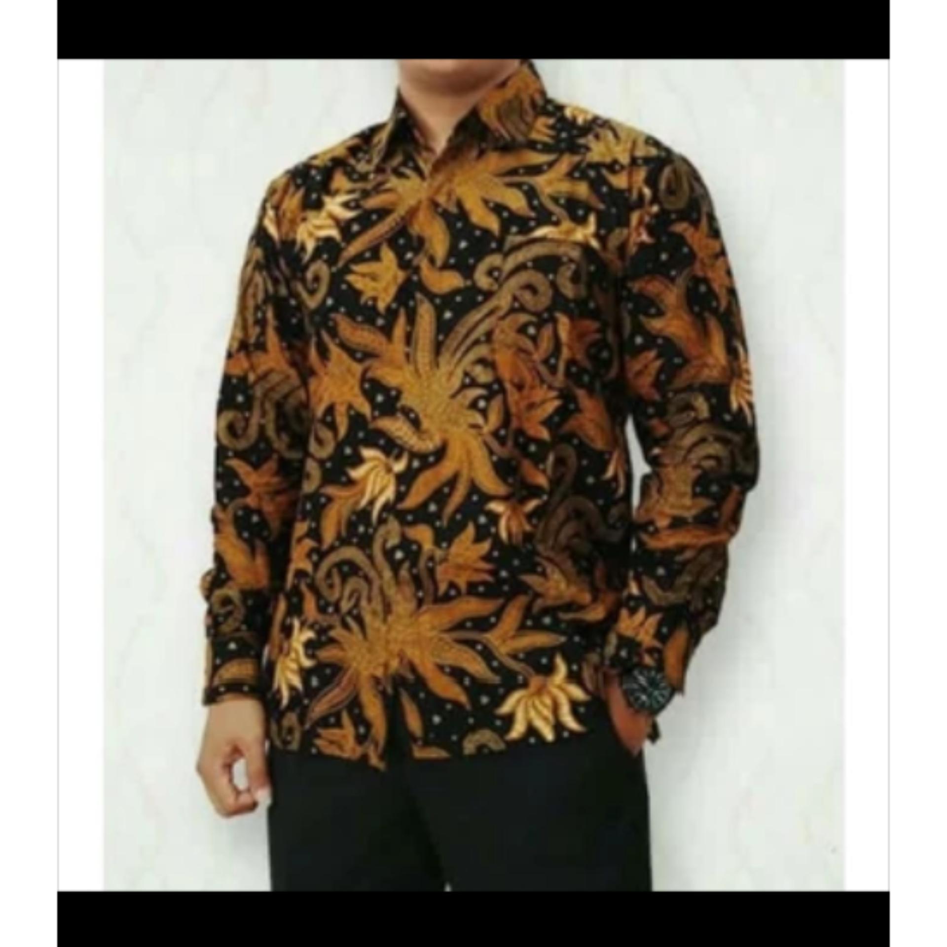 Batik Pekalongan Pria Panjang: PENAWARAN Keden/kemeja Panjang Batik Sogan Pria