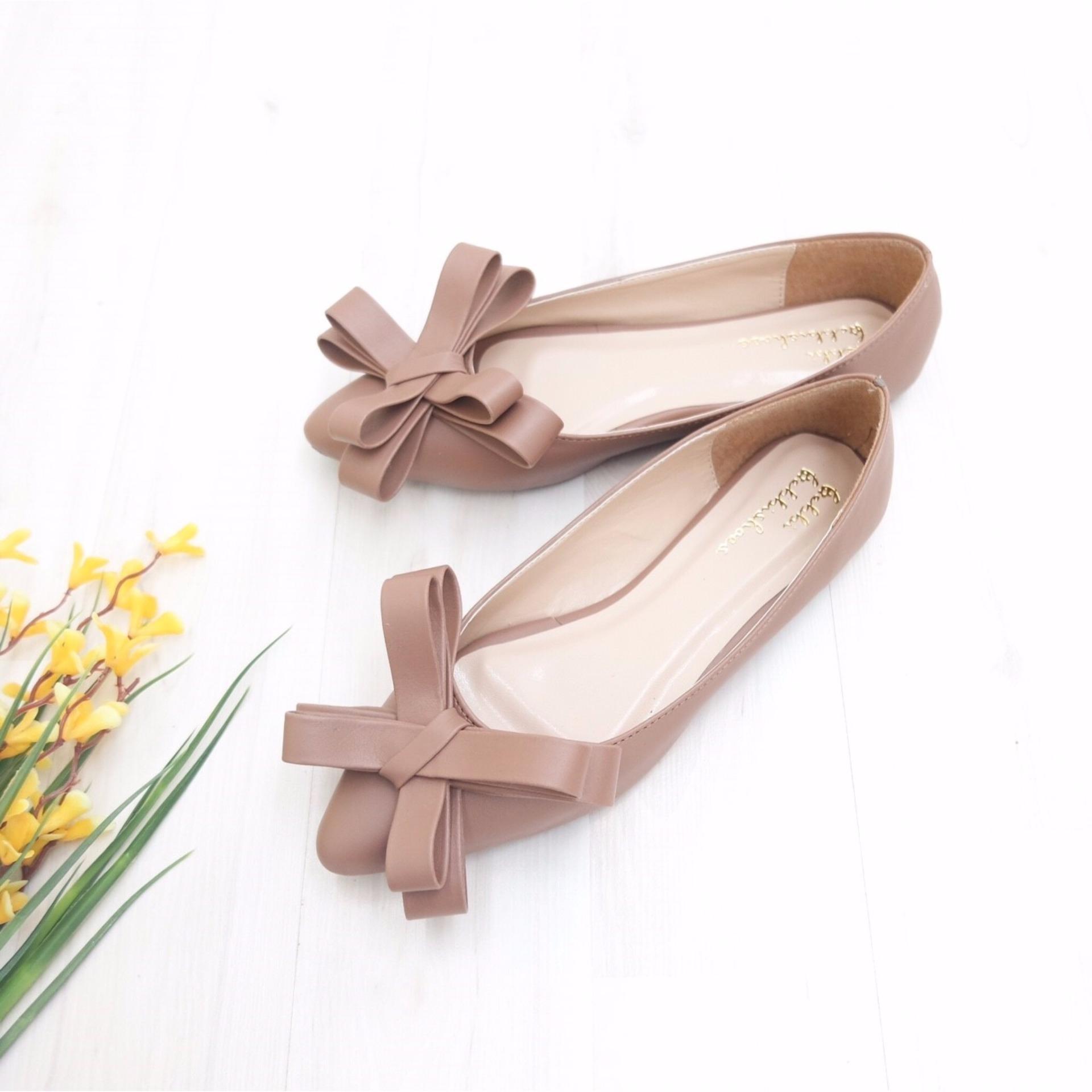 KelinciMadu-Mess Shape Flatshoes-Brown .