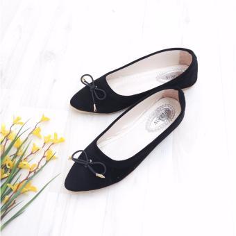 Bebbishoes-Pita Silky Flatshoes-Black