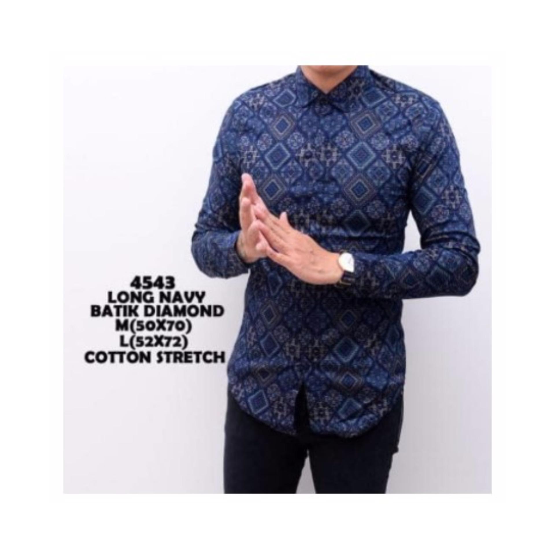 Kemeja Batik Pria Gradation Panjang Slimfit | Baju Batik Murah ...
