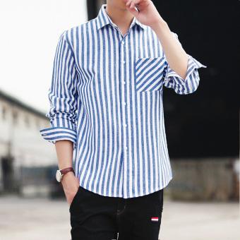 ... Berkotak Ukuran Besar Source · Penawaran Bagus Kemeja Pria Model Tipis Lengan Panjang Bergaris Membentuk Tubuh Versi Korea 339 langit