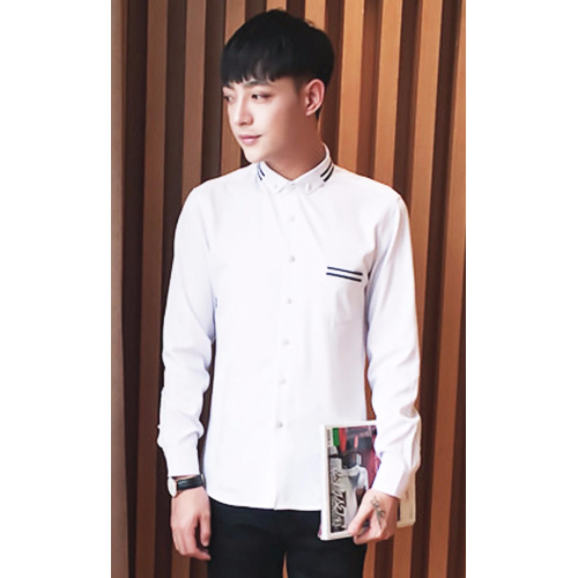 Flash Sale Kenzi Top - putih / atasan pria / kemeja pria / pakaian pria / baju pria